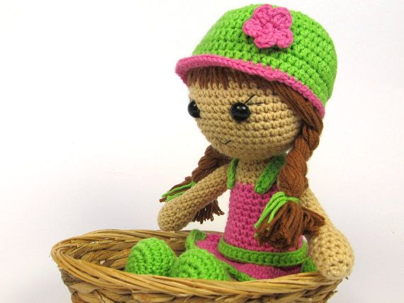 Doll Maria- Amigurumi Crochet Pattern / PDF e-Book / Stuffed Animal ...