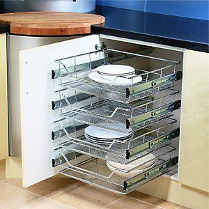 Wickes Chrome 4 Tier Spice Rack 500mm Wickes Co Uk Kitchen Storage Solutions Kitchen Basket Storage Kitchen Accessories