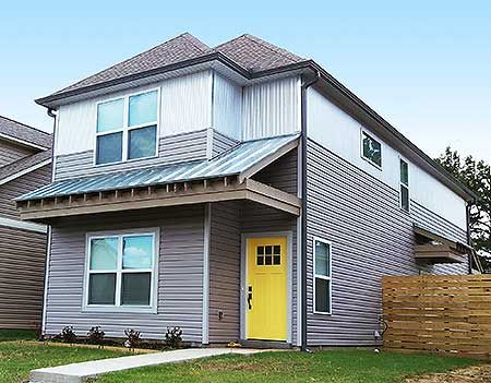 Narrow Lot Townhome 68407vr Traditional Narrow Lot Photo Gallery 2nd Floor Master Suite