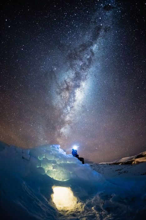 Igloo Under Night Sky My Photo Scoop It Fotografia Magica Fotografia Fotos