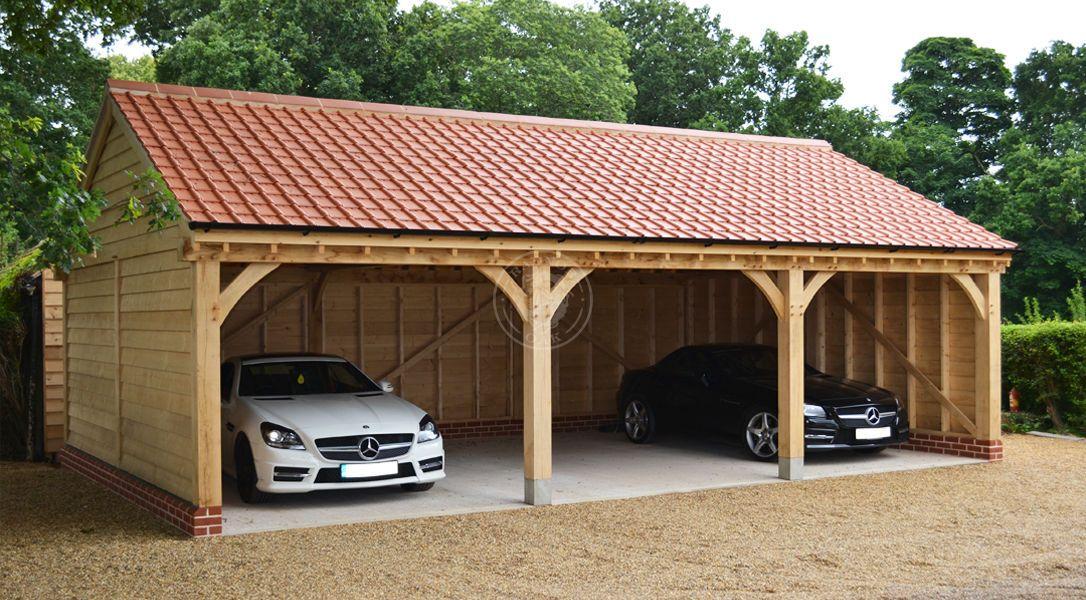 Byton Low Ridge 3 Bay Oak Garage Model No. BYL3001