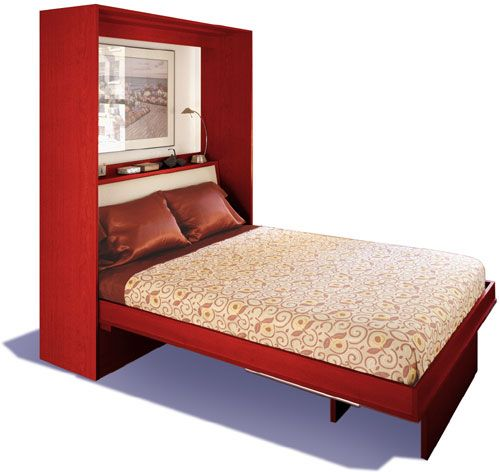 Freestanding Murphy Bed With Table Available When Closed Murphy Bed House Beds Bed Murphy bed with dining table