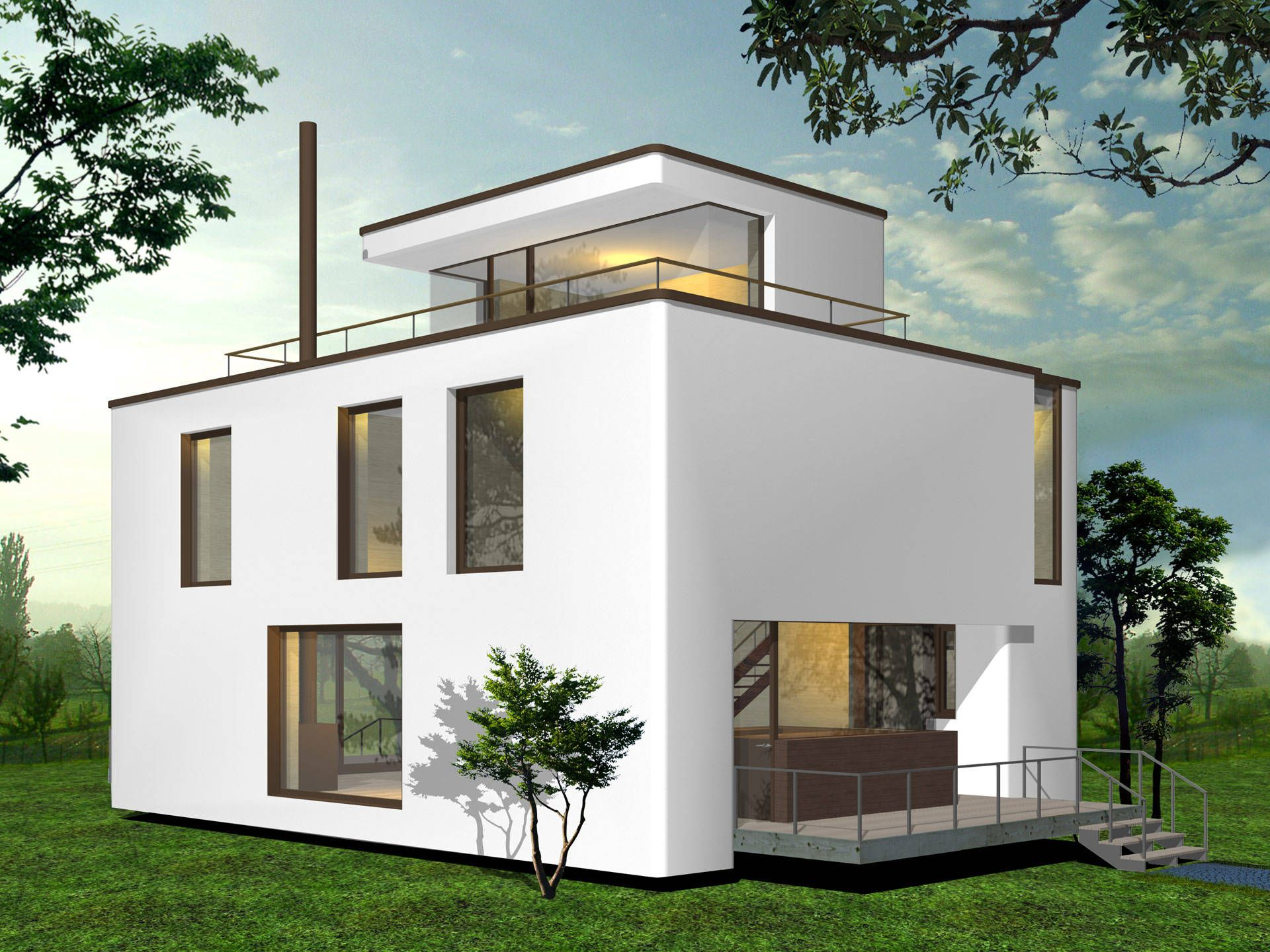 Stadtvilla • niedrigenergiehaus von palisadio • holzhaus mit flach oder satteldach • jetzt bei musterhaus