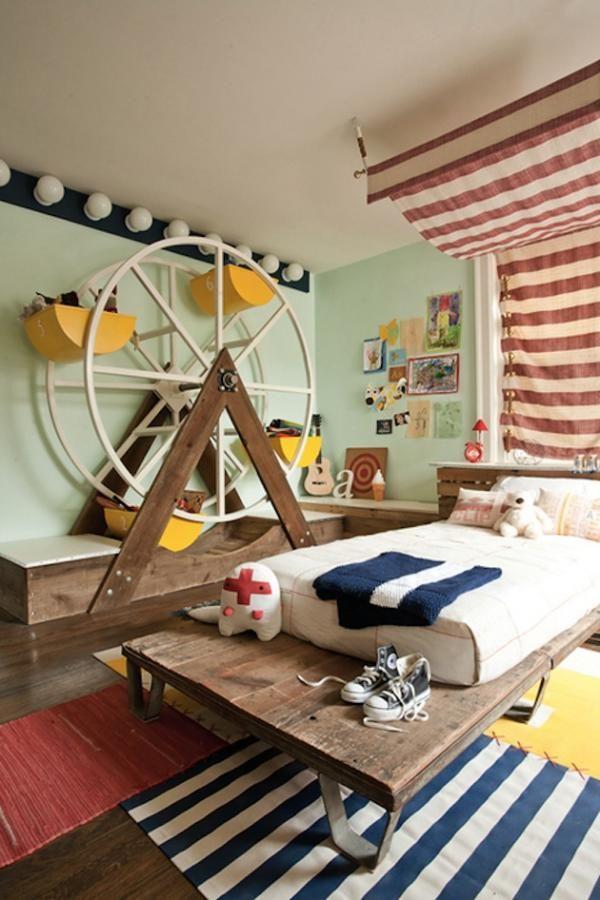 Ungewöhnliche Kinderzimmer Ideen Streifen Riesenrad