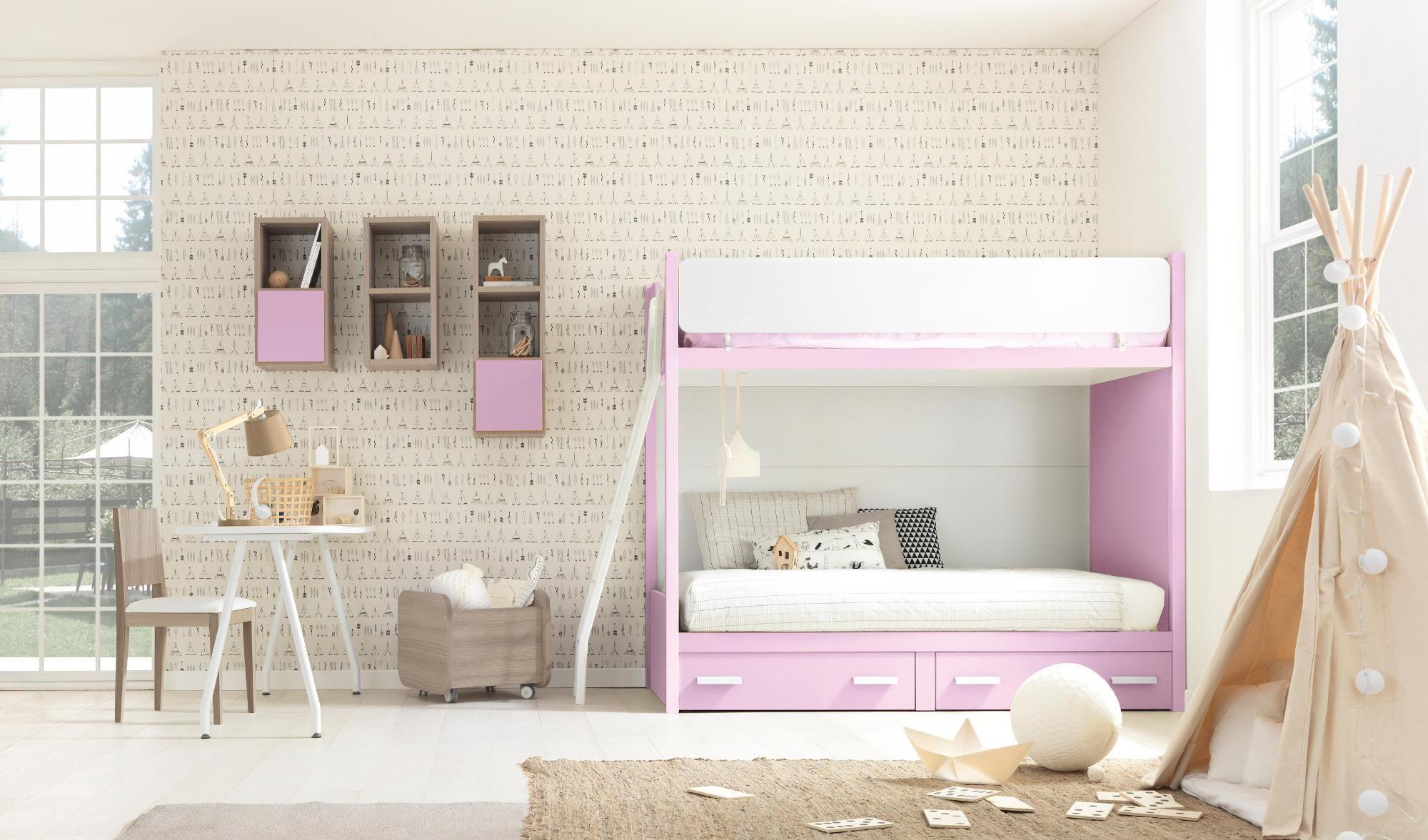 Finitura rosa e ciliegio bianco Arredo camere da letto per ...