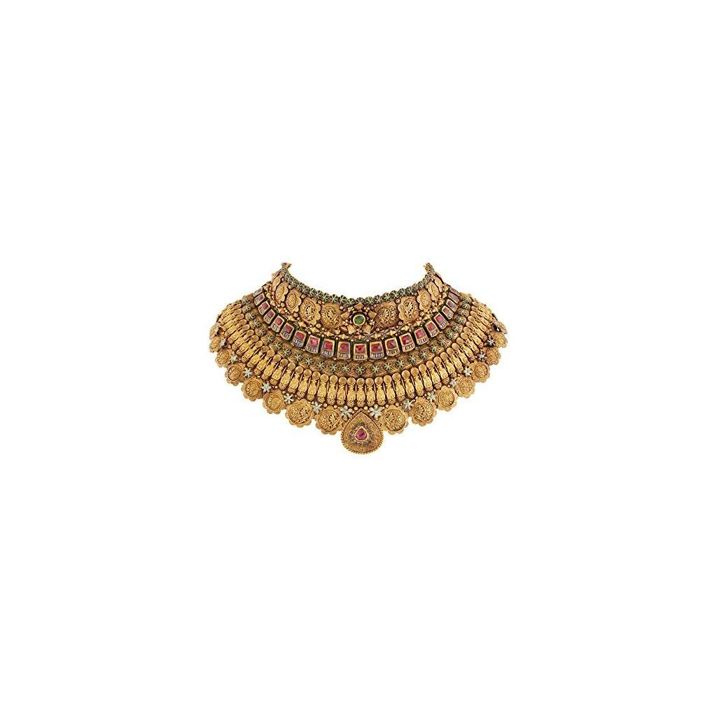 Simple Diamond Emerald Choker And Studs Photo Jewelry Design Necklace Gold Necklace Designs Choker Necklace Designs