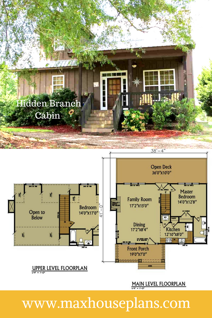 The Hidden Branch Cabin Is Just The Right Size For A Weekend Getaway This Small Cabin Floor Plan Wil Cabin Floor Plans Country Cottage Decor Small Cabin Plans