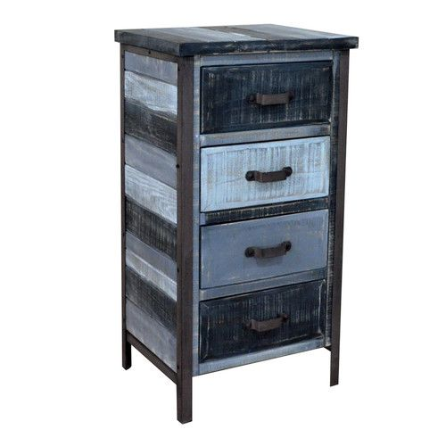Clayera 4 Drawer Nightstand Rustic Accent Furniture Accent Chests And Cabinets Family Room Furniture
