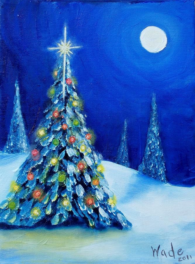 Oh christmas tree painting oh christmas tree fine art for Christmas canvas painting ideas