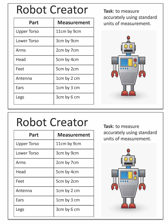 Constructing A Robot Using Area