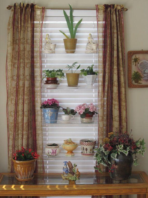 Delightful Hanging Window Plant Shelves Create Your By IndoorWindowGardens, $129.00