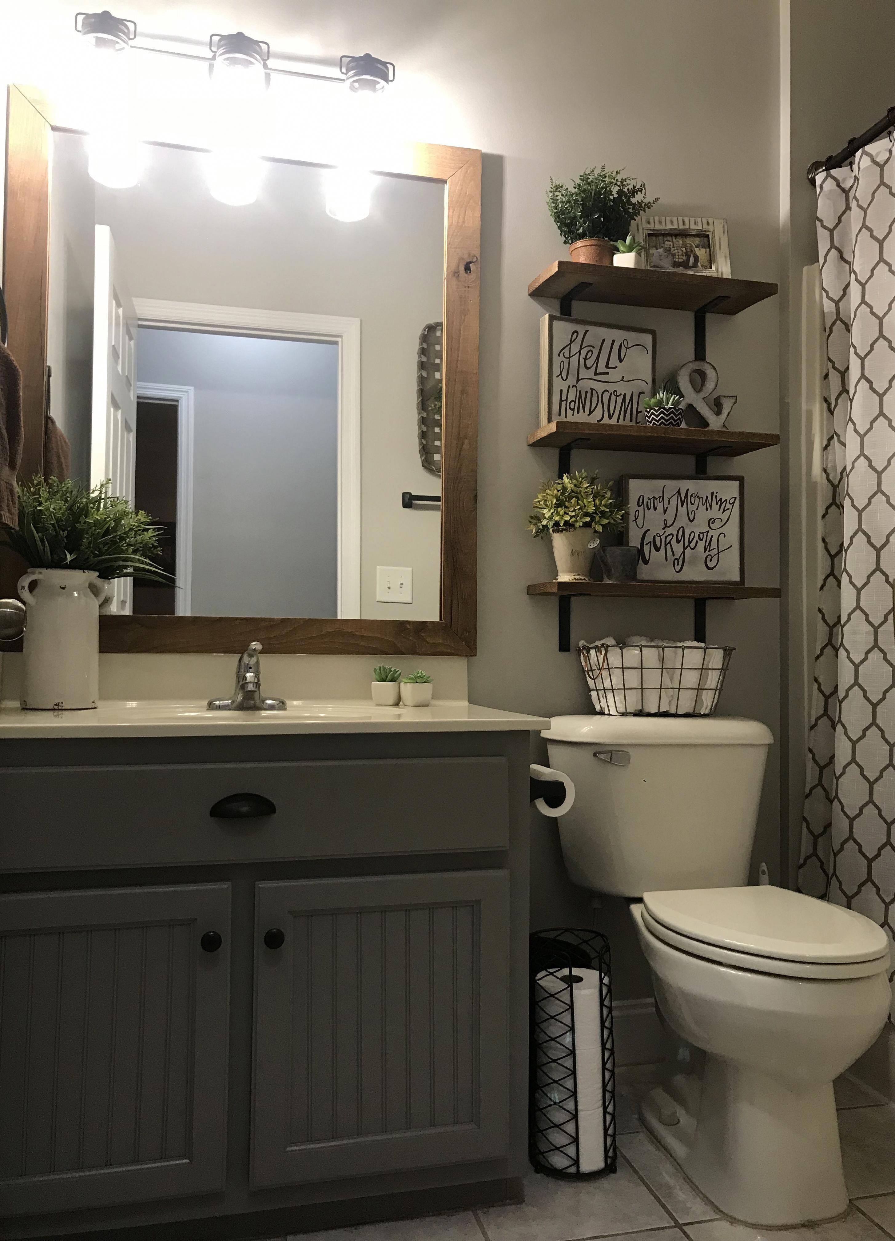29 Guest Bathroom Ideas To Wow Your Visitors Bathroom Bathrooms Diy Remodel Makeover Vanity Simp Small Bathroom Decor Guest Bathrooms Bathroom Makeover
