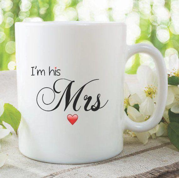 Mrs Mug I'm His Mrs Cup Wedding Gift Present Funny Novelty