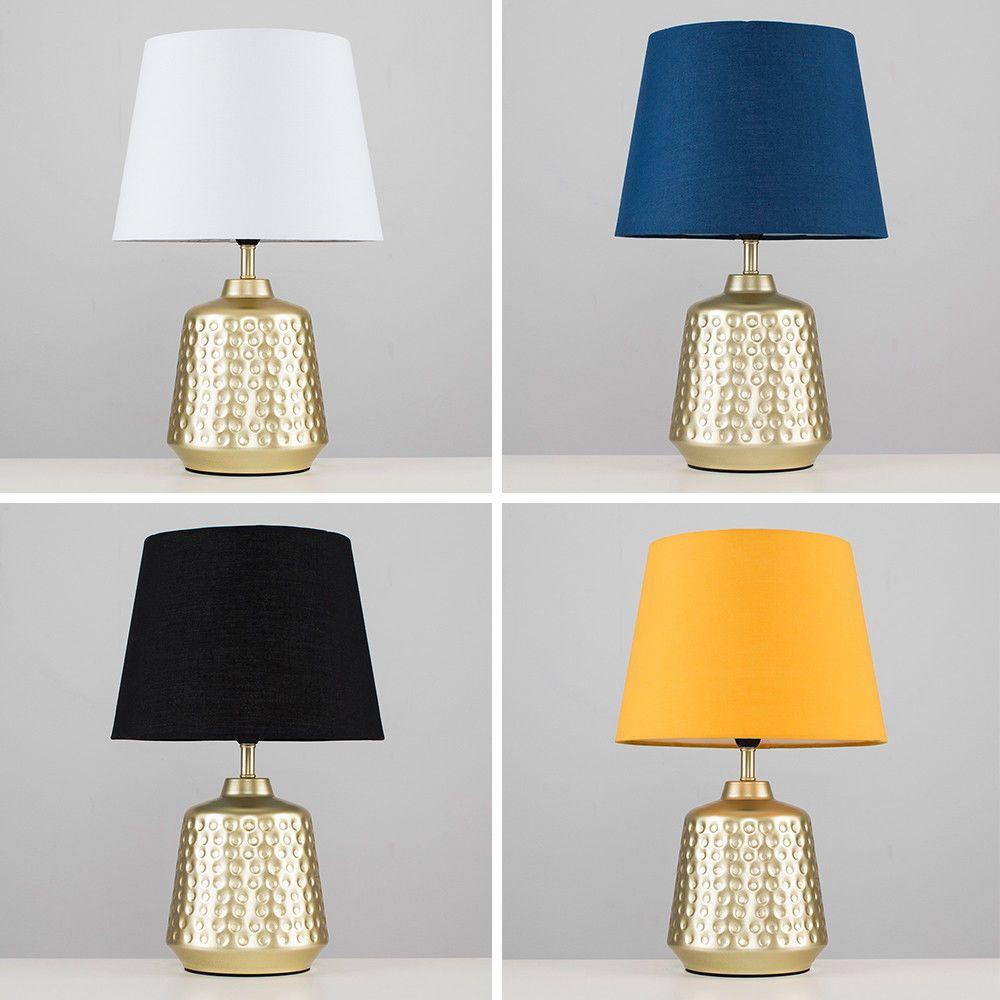 gold base bedside table lamps
