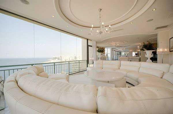Extravagante Wohnzimmer Interieur-Ideen | Luxury penthouse ...