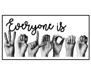 Speech: Everyone is Welcome Sign by Speech Language