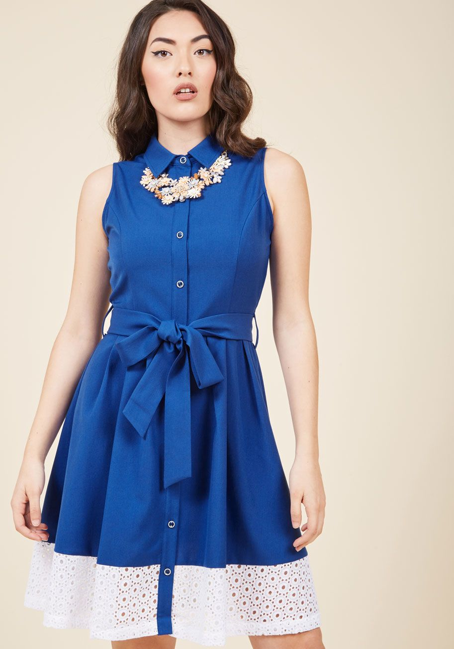 f3d6da37a3  p After working this royal blue shirt dress in the office