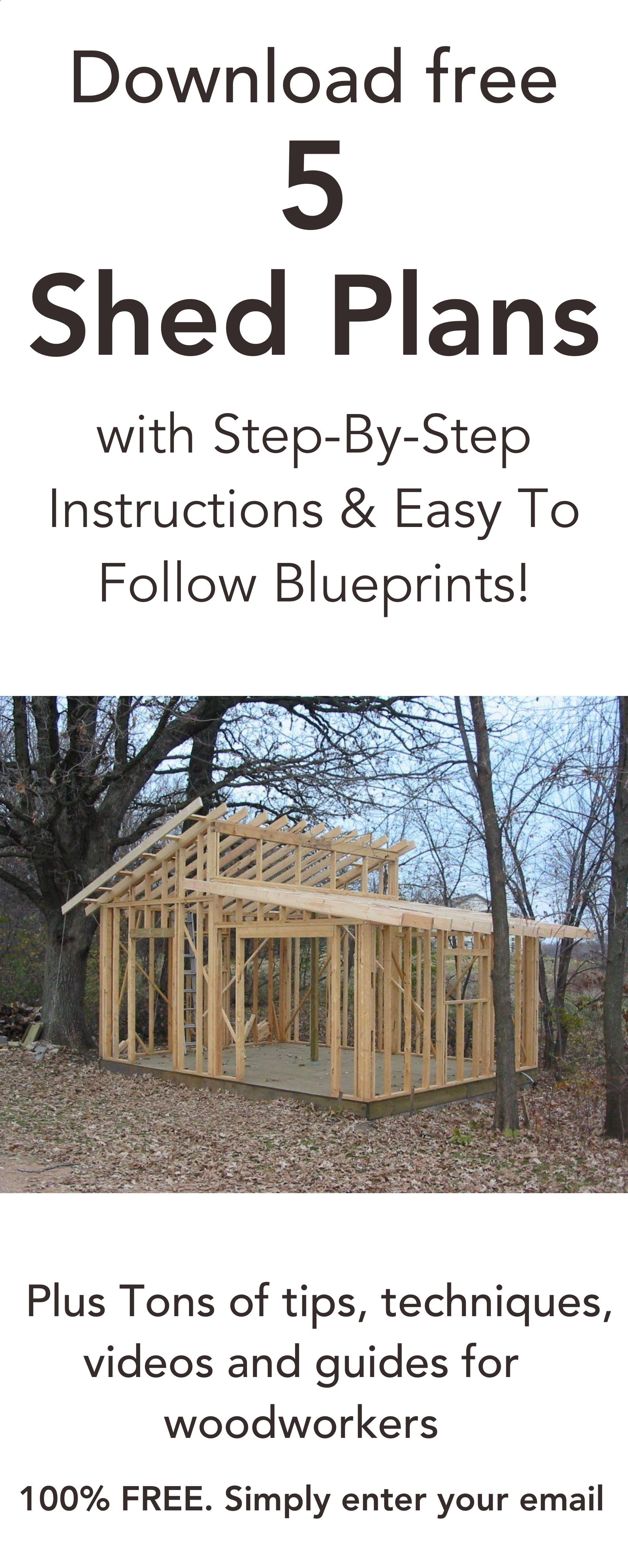 Plans Of Woodworking Diy Projects  Download 5 Free Shed