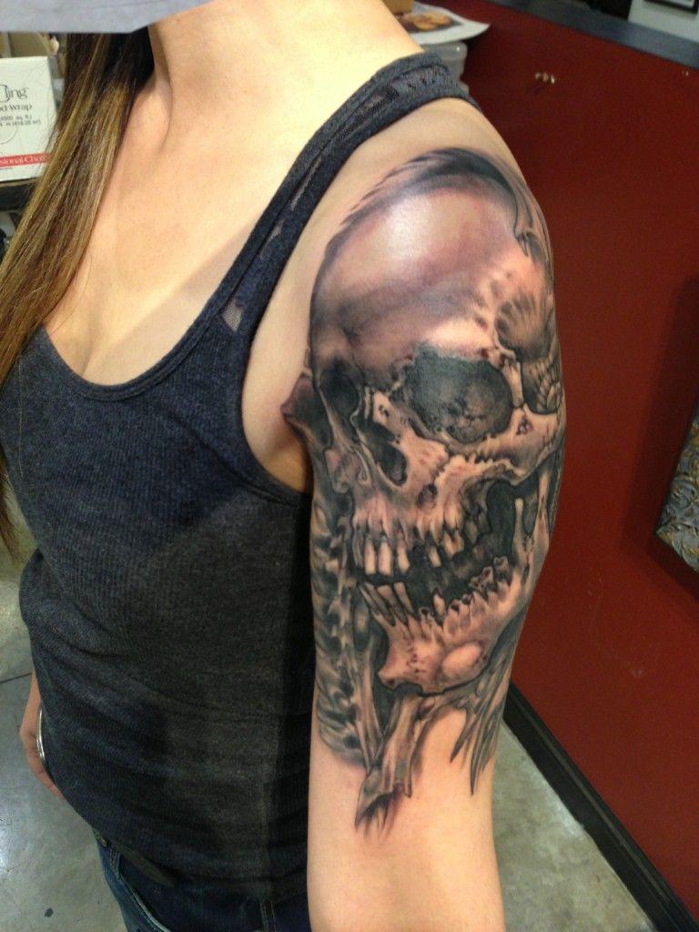 Pin on Dead Women Skull Tattoos