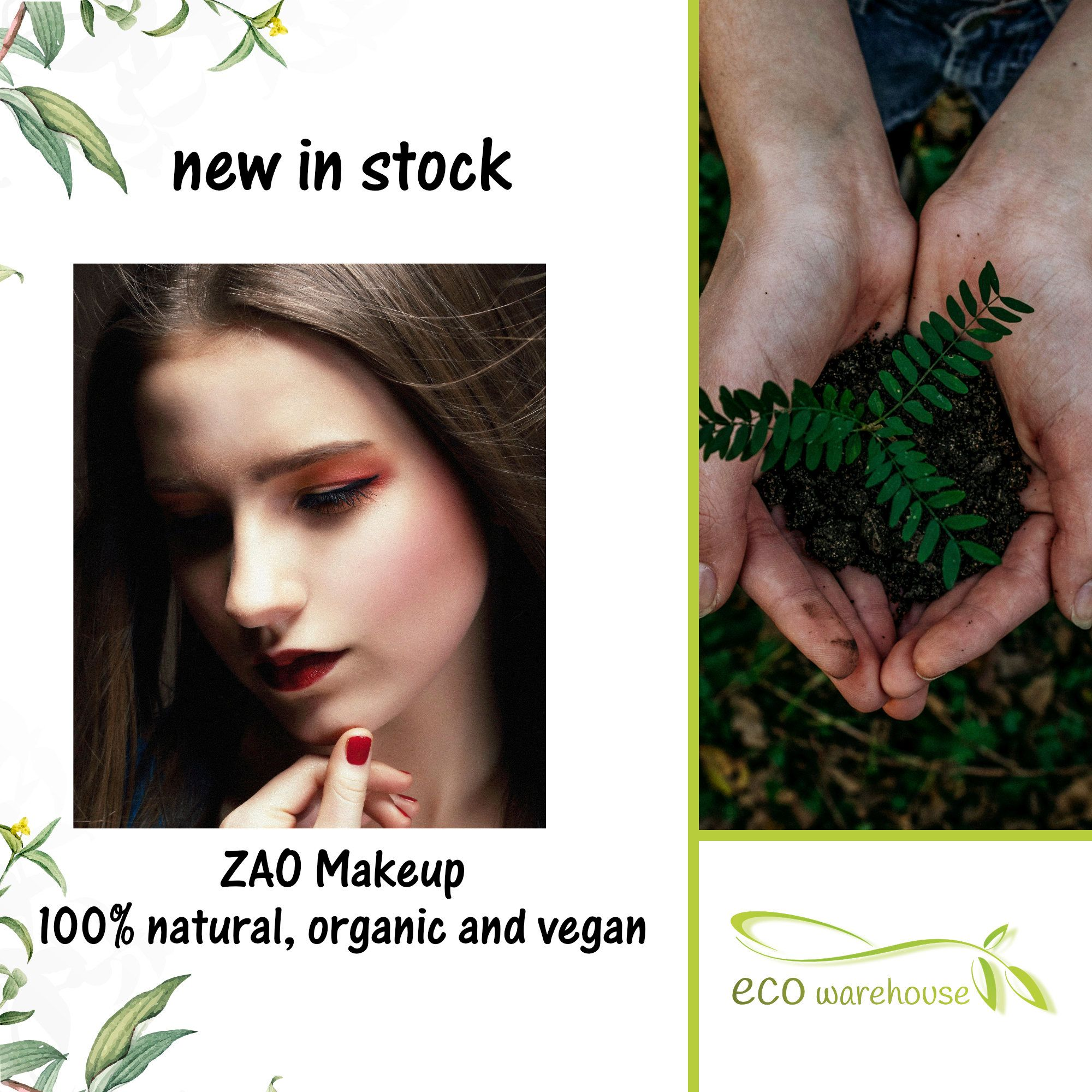 NEW in stock Zao Makeup. An ecoluxury makeup brand made