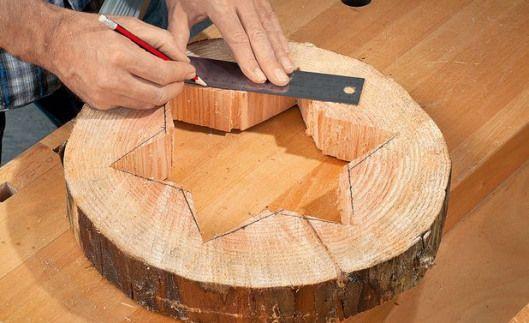 Baumscheiben Deko Basteln Diywoodwork Holzsterne