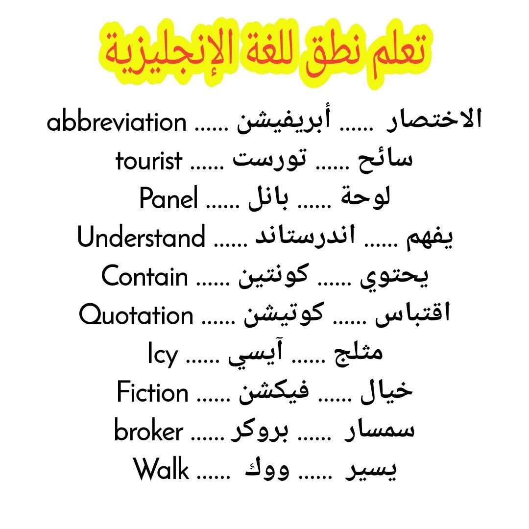 تعلم نطق اللغة الانجليزية English Language Learning Grammar Learn English Vocabulary English Language Learning