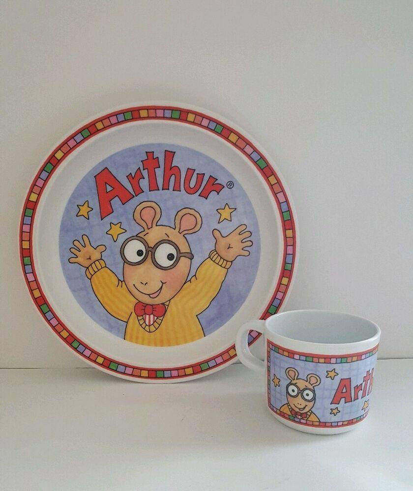 Pbs Arthur Aardvark Melamine Plate And Cup Mug Childrens Kitchenware Eden 9 Eden Melamine Plates Mugs Kitchenware