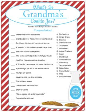 What S In Grandma S Cookie Jar Match Clues To Cookies