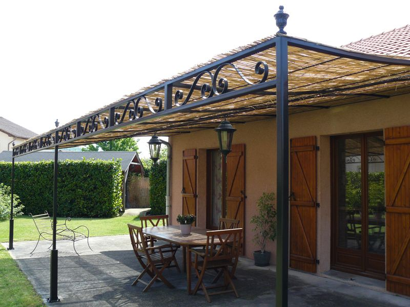 forge de vulcain pergola en fer forg nos r alisations de pergola en fer forg tonnelle. Black Bedroom Furniture Sets. Home Design Ideas
