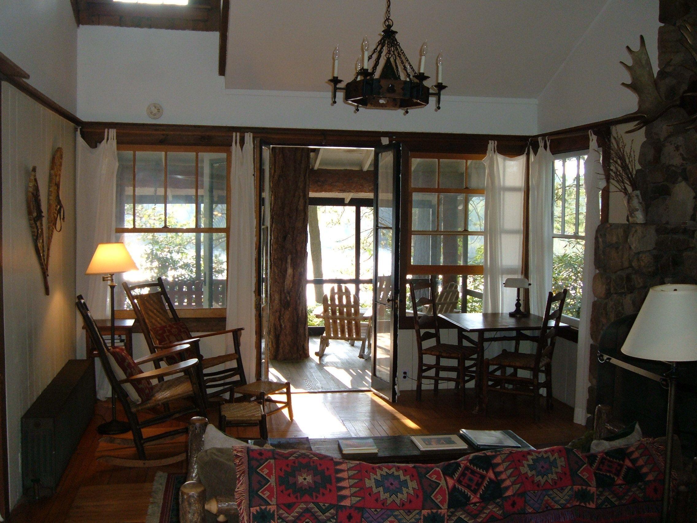 rentals luxury broken pin cabins adirondacks oklahoma log cabin bow lakefront adventures