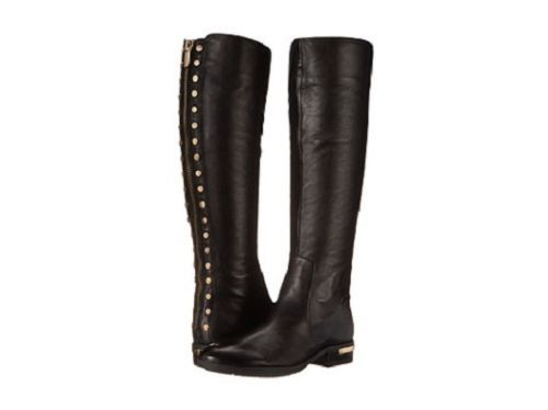 8ddb66908bf NIB-Vince-Camuto-Parshell-Leather-Riding-Boots-with-Gold-Hardware-in ...