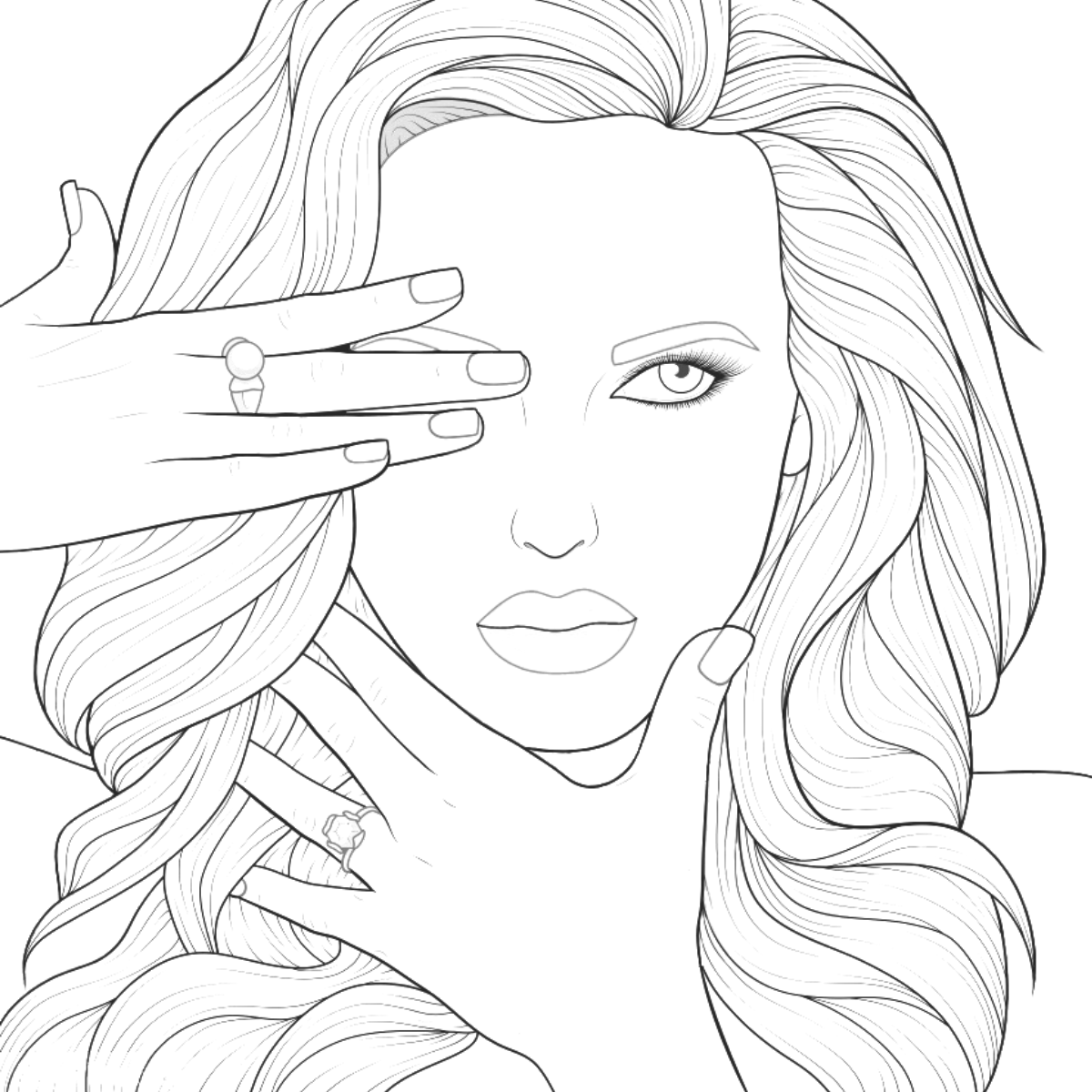 Pin By Harly Jones On Drawings Adult Coloring Book Pages Outline Drawings Adult Coloring Pages