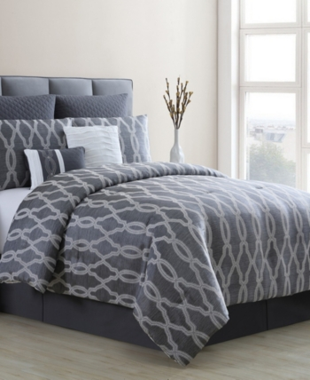 Brandy 8 Piece California King Comforter Set Gray King Comforter Sets