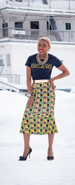 Kente mermaid pencil skirt african print fashion ankara and