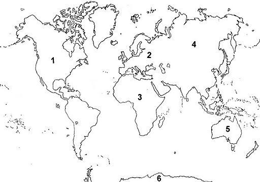 Imagen de un mapamundi para colorear - Imagui | Imprimaciones ...