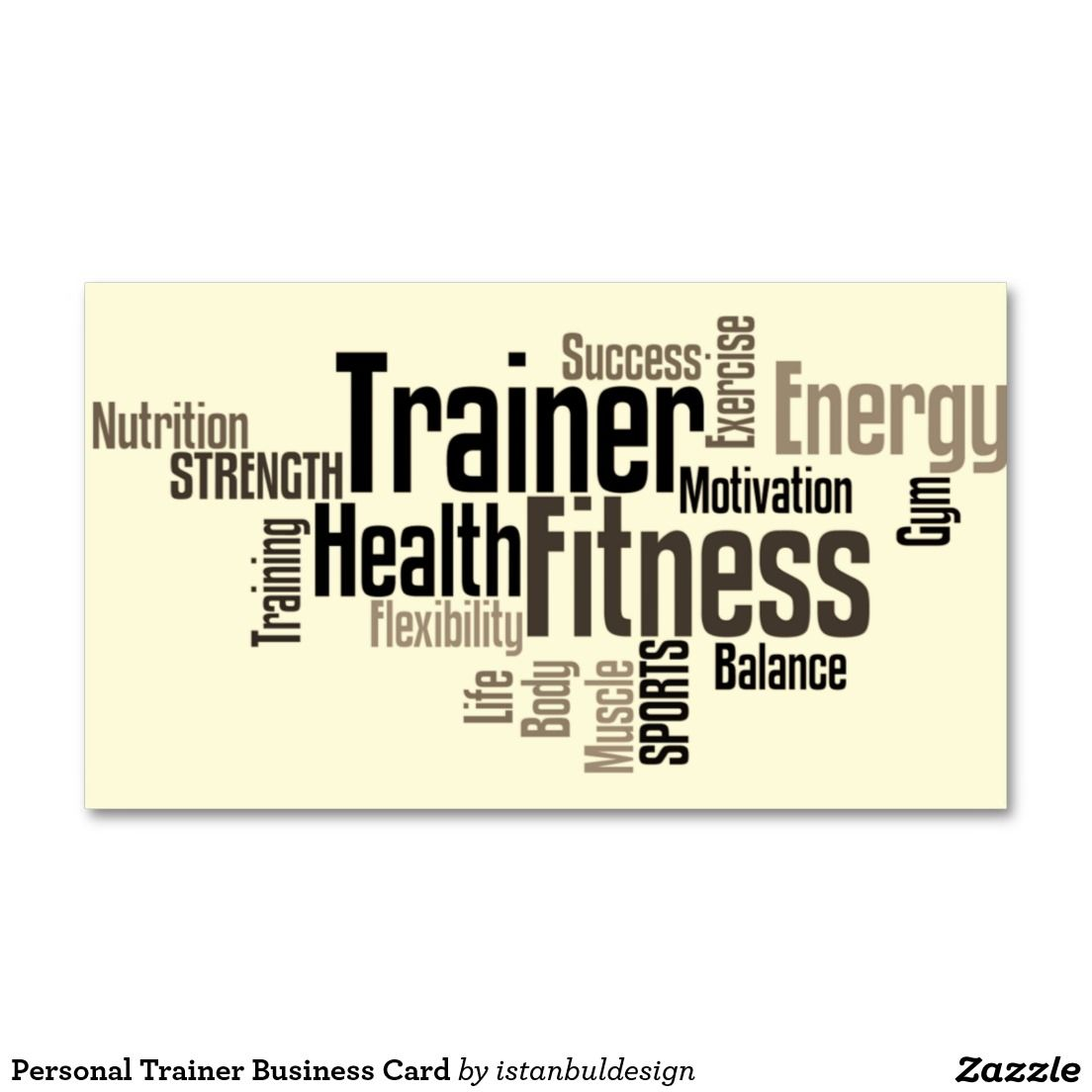 Personal Trainer Business Card Zazzle Com Business