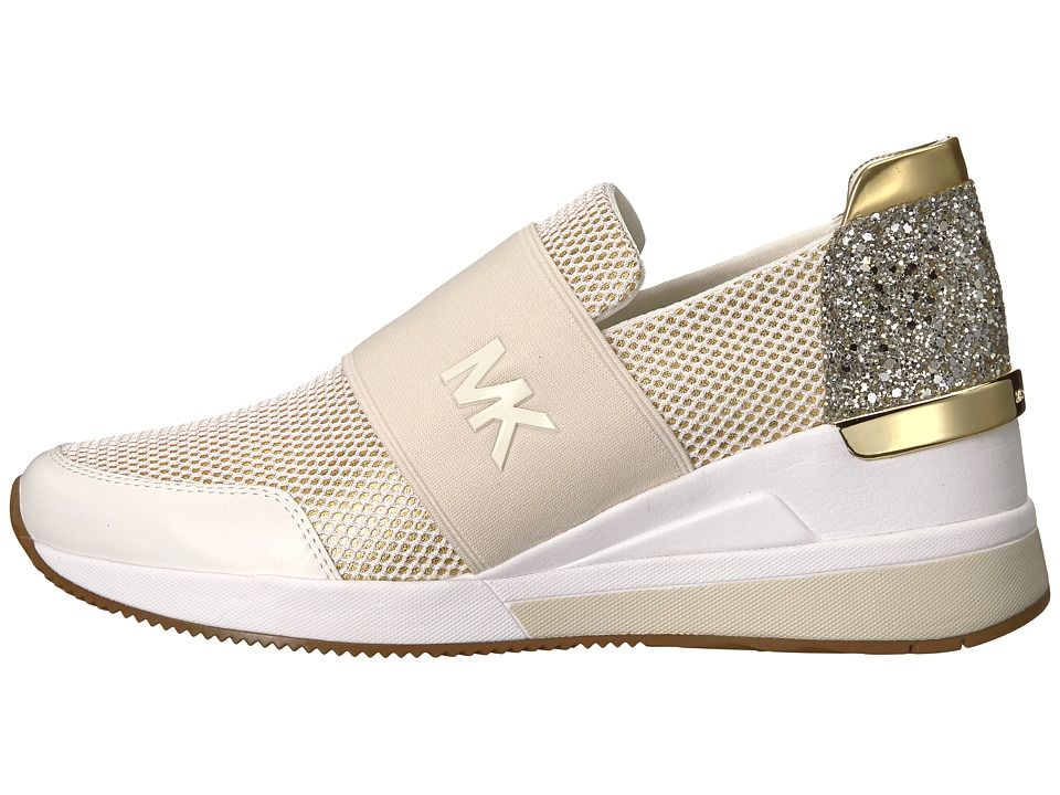 201f5a64616d5 MICHAEL Michael Kors Felix Trainer Women s Shoes Optic Gold Metallic  Nappa Net Mesh Chunky Glitter