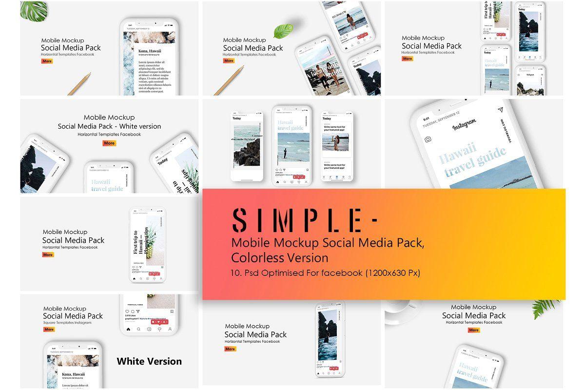 Iphone X Mockup Social Media Pack Social Media Pack Social Media Mockup