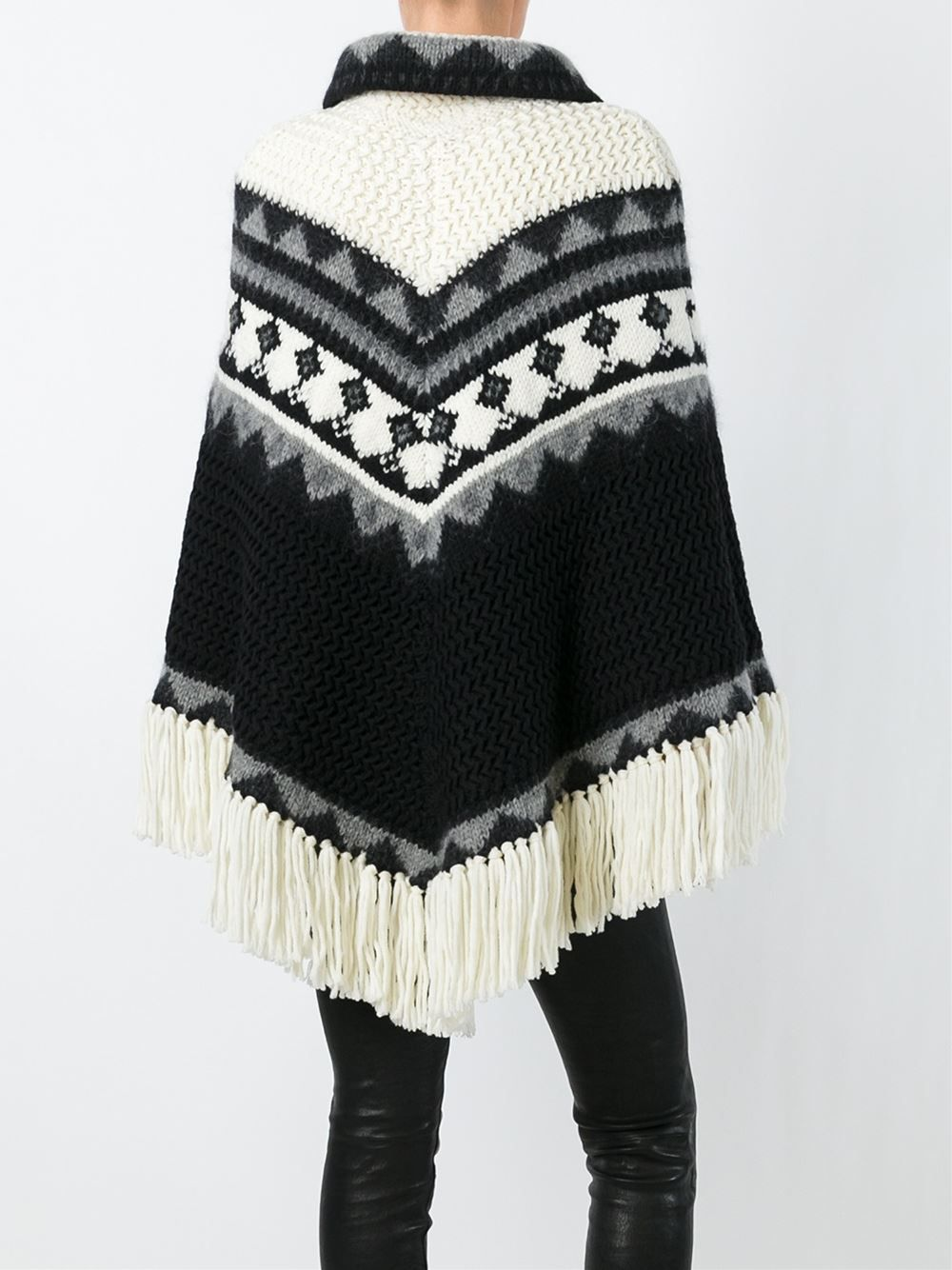 Saint Laurent knitted poncho