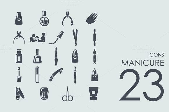 23 Manicure icons by Palau on Creative Market