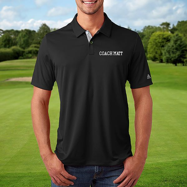 39be86040 Custom Embroidered Black Adidas Polo Shirt   Products in 2019   Golf ...