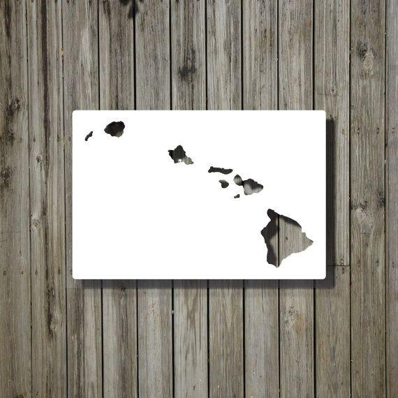 Hawaii Wall Decor Hawaii Whiteboard HI Gift Map Dry Erase US - Us map whiteboard