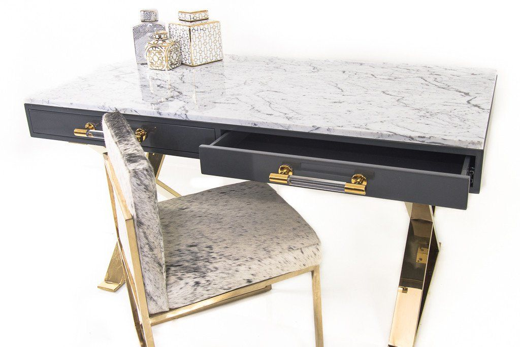 Cape Town Desk With Marble Top Marble Office Desk Marble Desk Marble Top Desk