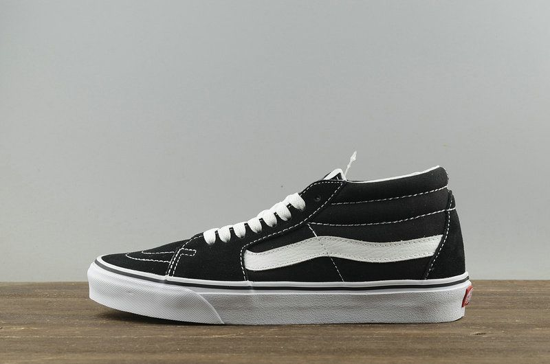 ff8bb653f2 2018 Factory Authentic Vans SK8 Mid Black NoirWhite blanc VN-0XC2Y28 2018  Spring Summer Skate Shoes Youth Big Boys Shoes