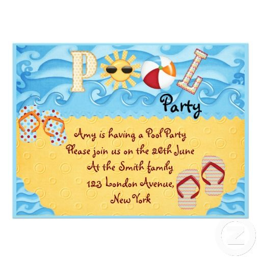 Pool Party Kids Ideas