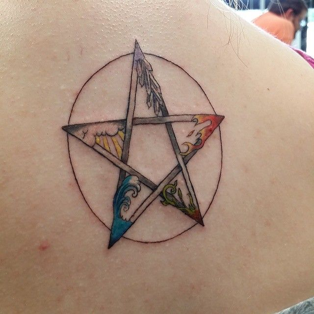 Elemental Pentacle Tattoo By Redwoodlisa Love This Concept