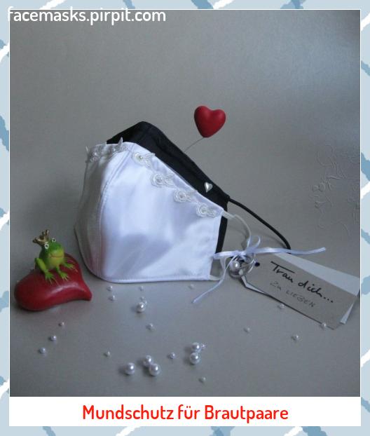 Mundschutz für Brautpaare #Brautpaare #für #mascaras #maschere #masken #maskers #Masks #masques #Mundschutz #マスク #마스크