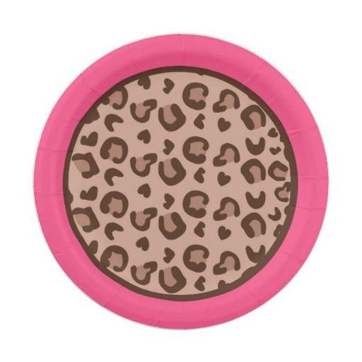 Pink Cheetah Paper Plates  sc 1 st  Pinterest & Pink Cheetah Paper Plates 7 Inch Paper Plate | Personalized Baby ...
