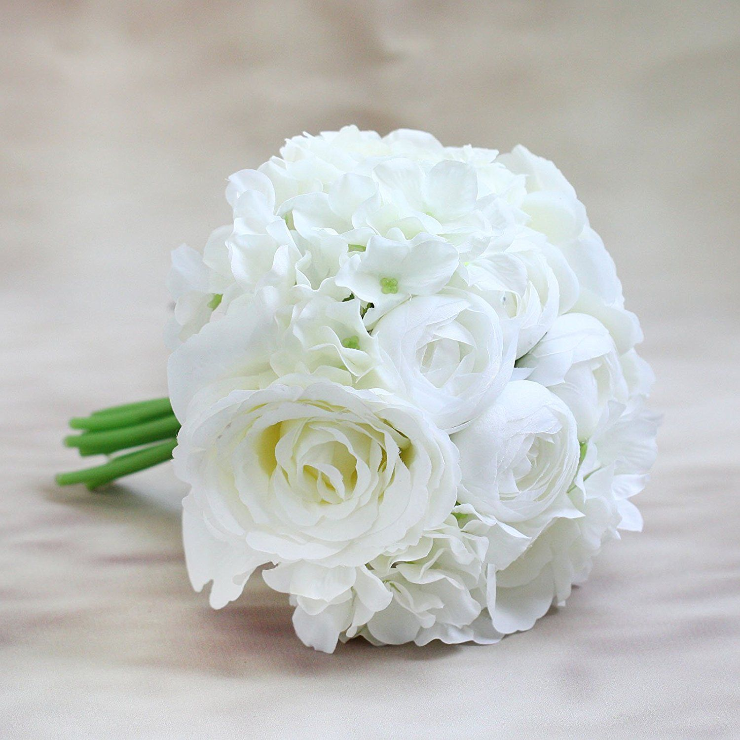 Bridal bridesmaid flower bouquet kc651 white read more reviews silk artificial flower bridal bridesmaid bouquet peony roses hydrangeas wedding decoration white peony 1 check out the image by visiting the link izmirmasajfo Gallery