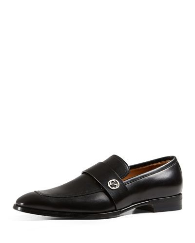 6e9bbf5d971 N3HFW Gucci Broadwick Leather Loafer